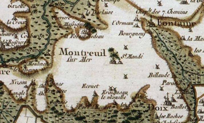 Extrait de la carte de Cassini